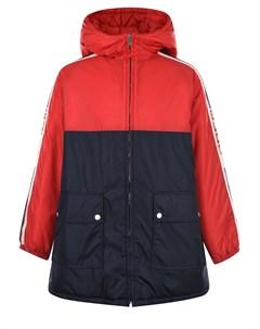 Куртка colorblock на молнии детская Gucci