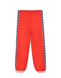 Красные спортивные брюки с синими лампасами детские Gucci