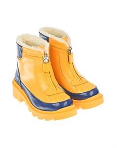 Желтые ботинки на молнии Gucci