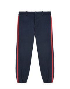 Синие брюки в спортивном стиле Gucci