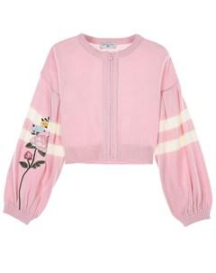 Розовая кофта на молнии детская Monnalisa