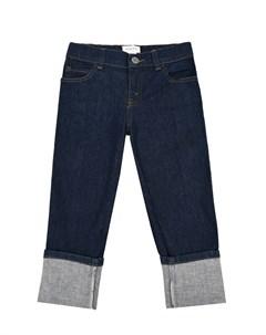 Синие джинсы с отворотами Gucci