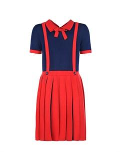 Трикотажное платье с бантом детское Gucci