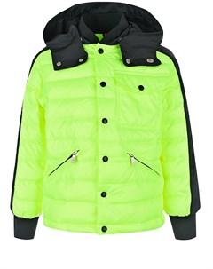 Стеганая куртка Bouzey с контрастными деталями детская Moncler