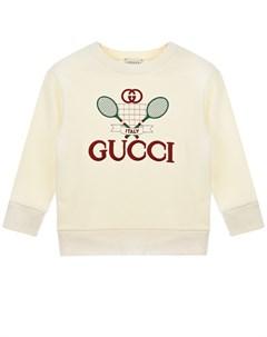 Свитшот с вышитым логотипом Gucci