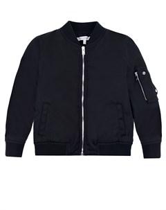Черная куртка бомбер с карманом на рукаве Dior