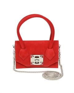 Красная замшевая сумка 20x13x5 см Salar