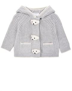 Серая кофта с капюшоном детская Burberry