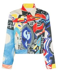 джинсовая куртка с принтом Charles jeffrey loverboy