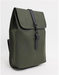 Непромокаемый рюкзак цвета хаки 1340 Зеленый Rains