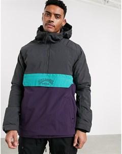 Серо фиолетовая горнолыжная куртка анорак Stalefish Billabong