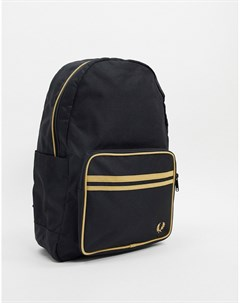Черный рюкзак с двойным кантом Fred perry