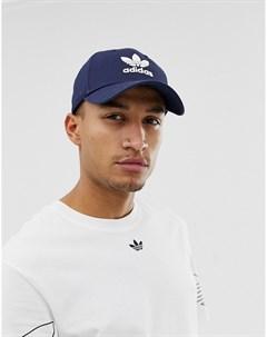 Темно синяя кепка с логотипом трилистником Темно синий Adidas originals