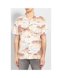 Рубашка из смеси льна и вискозы Rrl