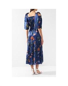 Платье из смеси хлопка и шелка Borgo de nor
