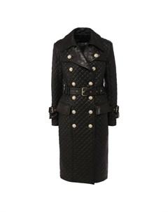 Кожаное пальто Balmain