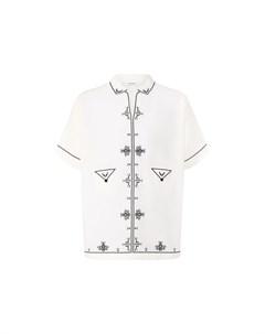 Рубашка из смеси хлопка и шелка Saint laurent