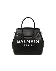 Кожаная сумка тоут Balmain