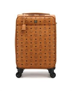 Кожаный дорожный чемодан на колесиках Mcm