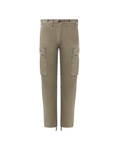 Хлопковые брюки карго Rrl