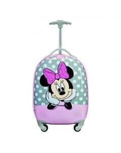Чемодан Disney by Disney Ultimate 2 0 MINNIE GLITTER Минни глиттер розовый и серый Samsonite
