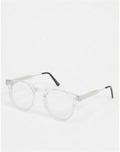 Круглые очки с прозрачными стеклами Spitfire