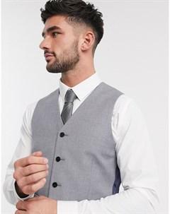 Серый жилет узкого кроя Asos design