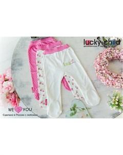 Ползунки для девочки Маленькая садовница 3 шт Lucky child