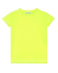 Неоновая футболка с логотипом на спине детская Scrambled ego