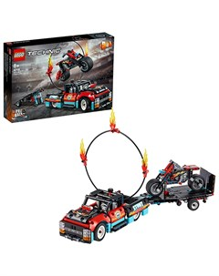 Lego technic 42106 конструктор лего техник шоу трюков на грузовиках и мотоциклах Lego