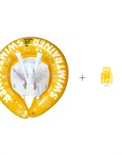 Круг для купания Swimtrainer Classic и Weleda Детский шампунь гель с календулой для волос и тела 200 Freds swim academy