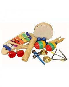Музыкальный инструмент Набор перкуссии 10 предметов Flight