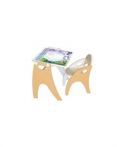 Набор мебели Части света парта мольберт и стульчик Интехпроект