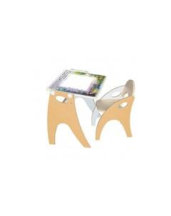 Набор мебели парта мольберт и стульчик Интехпроект