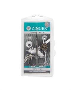 Ножницы маникюрные Salon BS 308 S загнутые узкие Zinger