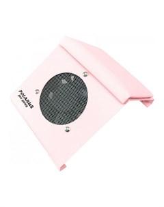 Пылесос для маникюра PRO series настольный розовый с подушкой 80W Polarus