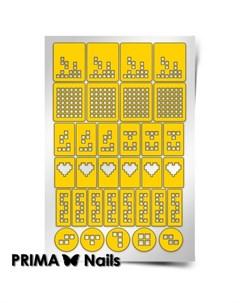 Трафареты Тетрис Prima nails