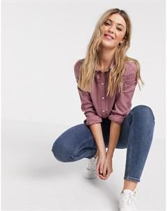 Белая классическая рубашка с длинными рукавами Фиолетовый Jdy