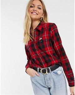 Клетчатая рубашка классического кроя в ковбойском стиле Lee Красный Lee jeans