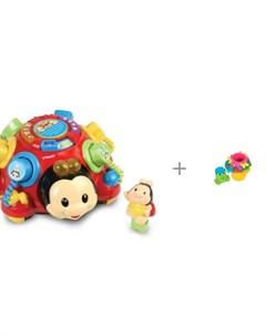 Сортер Говорящий жук 80 111226 и Развивающая игрушка Maman Пирамидка 9055 Vtech