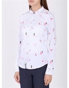 Рубашка в полоску с принтом Van laack