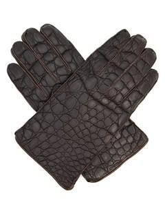 Перчатки из кожи каймана Schiatti