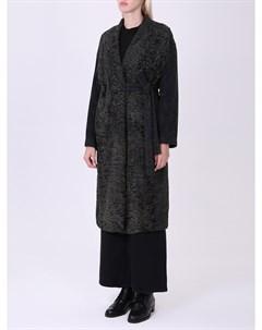 Пальто с мехом каракуля Inès maréchal
