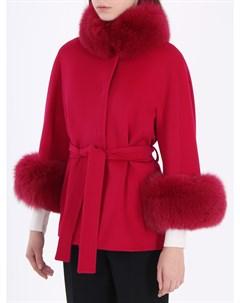 Шерстяное пальто с мехом Heresis