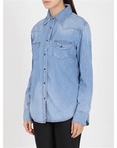 Рубашка джинсовая в горох One x one