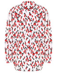 Рубашка хлопковая с принтом Marni