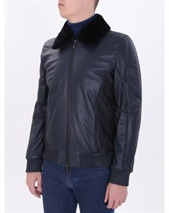 Кожаная куртка с мехом Schiatti