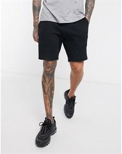 Черные трикотажные шорты скинни Asos design