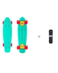 Круизер пластиковый 22x6 Abec 7 Carbon с чехлом универсальным Ridex