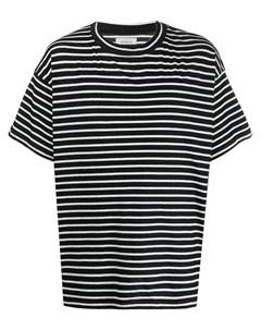 Полосатая футболка оверсайз Laneus